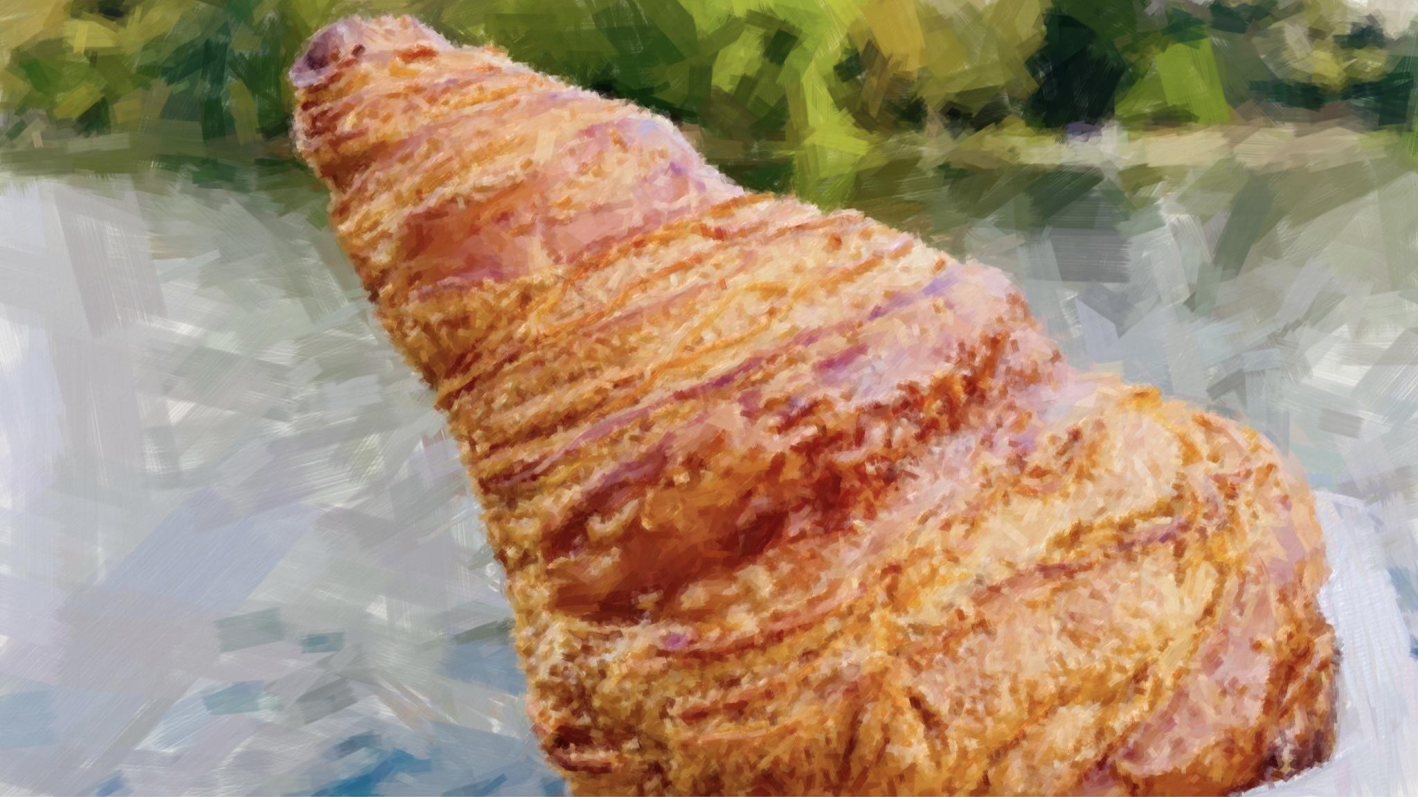 夕陽に包まれてのんびりパン