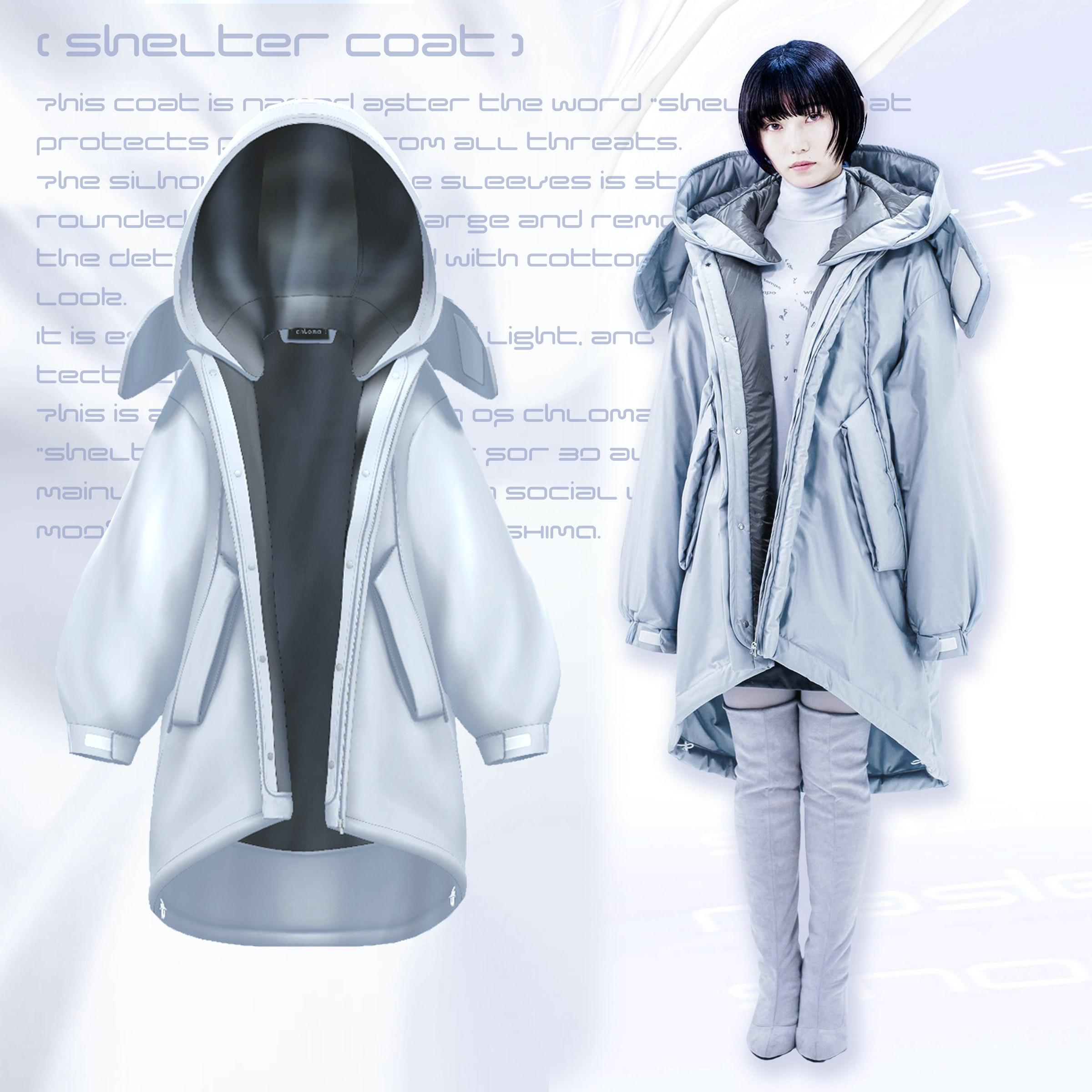 画像: 左:アバターウェアのShelter Coat 、右:元となったリアルのShelter Coat