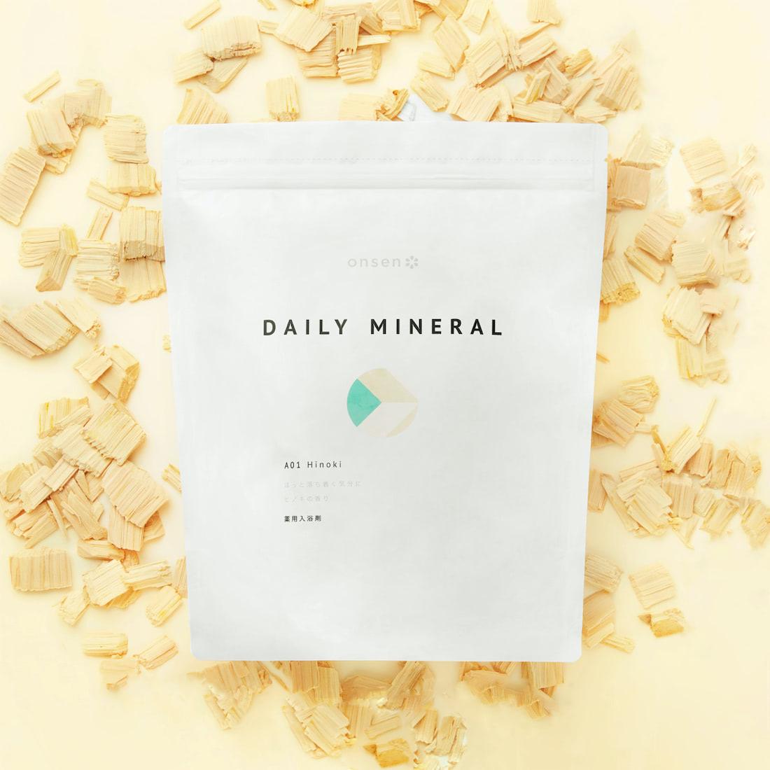 薬用入浴剤 デイリーミネラル A01 Hinoki(ほっと落ち着く気分に ヒノキの香り)大容量 | Onsen*