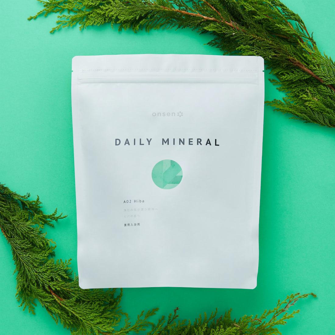 薬用入浴剤 デイリーミネラル A02 Hiba(浄化の気分漂う森林へ ヒバの香り)大容量   Onsen*