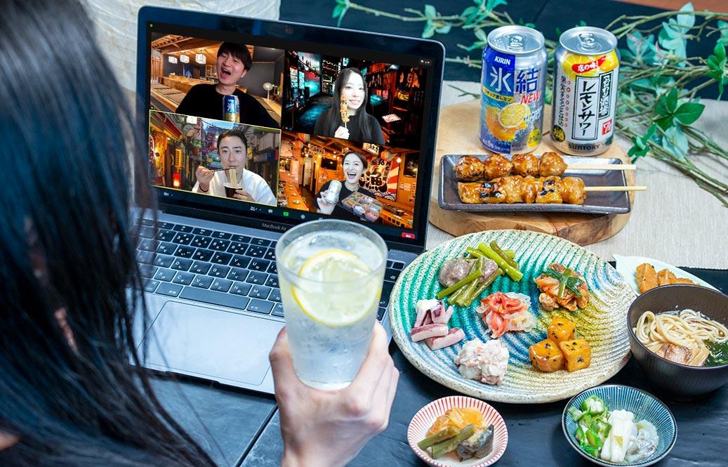 """おうちで本格居酒屋!離れていても「同じ食事」を囲んで、オンラインで繋がる仲間との""""宴""""をもっと楽しく。nonpi foodbox™から「居酒屋プラン」2種新登場。"""