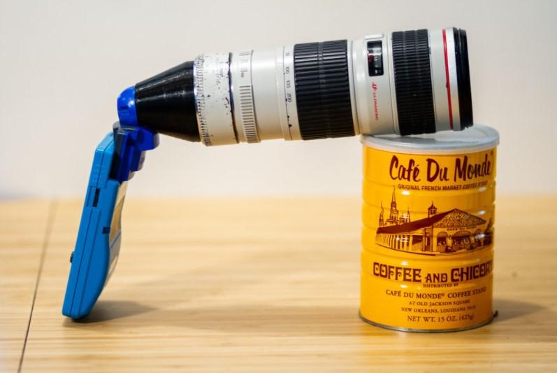 GBのポケットカメラと望遠レンズ