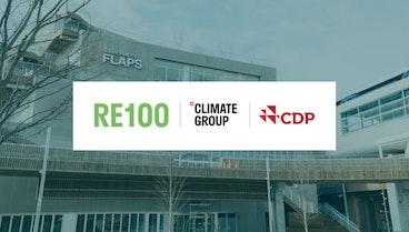 施設の使用電力を、100%再生可能エネルギーへ