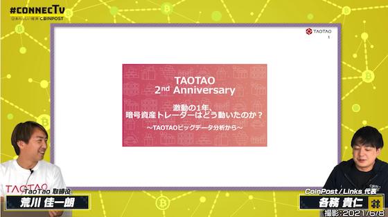 TAOTAO2周年特別企画#ConnecTV「激動の1年、暗号資産トレーダーはどう動いたのか」再録レポート