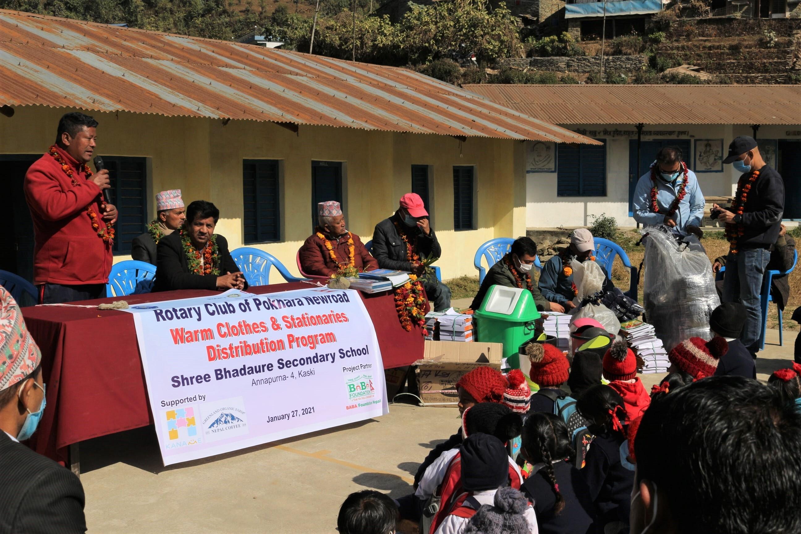 ネパールでの支援活動について
