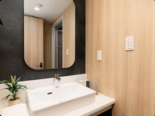 独立した洗面台&バスルーム
