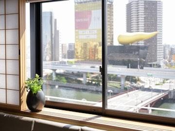 隅田川を一望