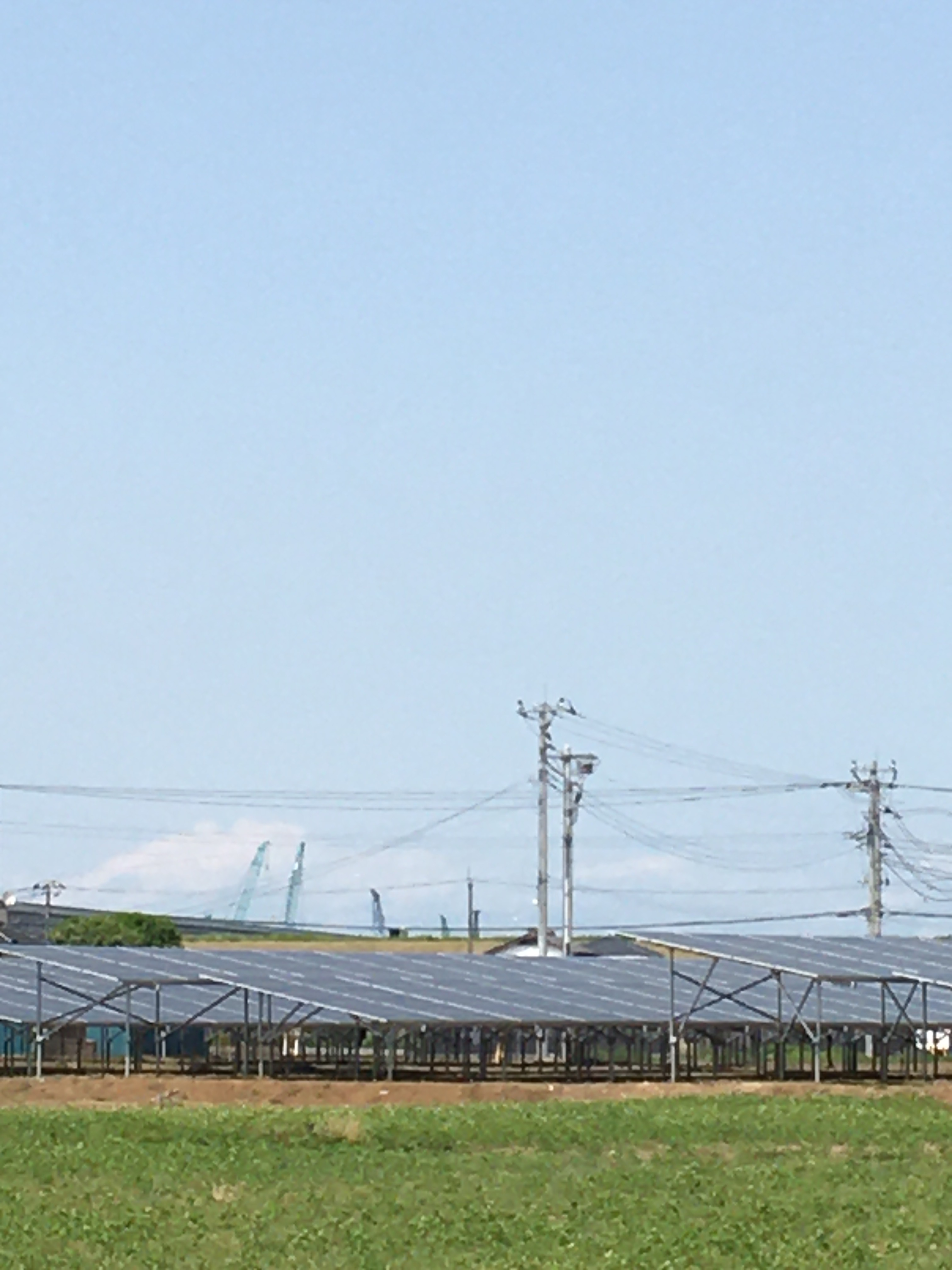 真正面からみた五霞町第二発電所