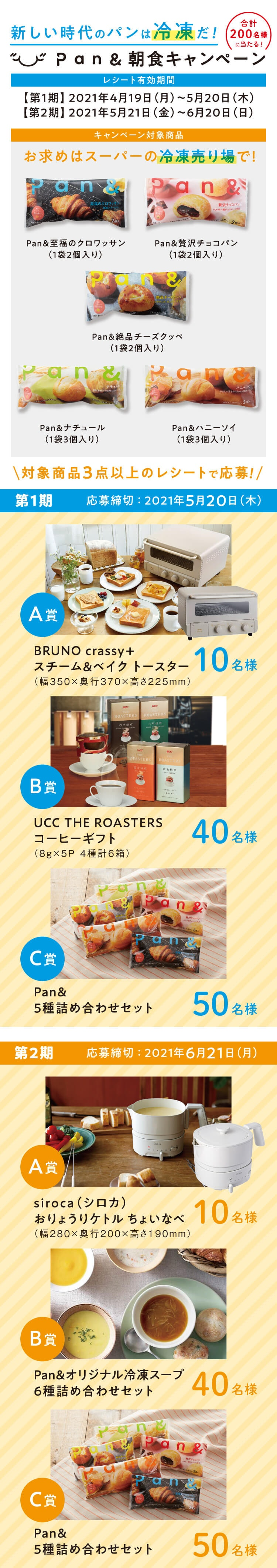 新しい時代のパンは冷凍だ!Pan&朝食キャンペーン