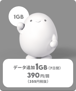 データ追加1GB