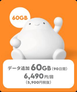 データ追加60GB