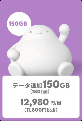 データ追加150GB