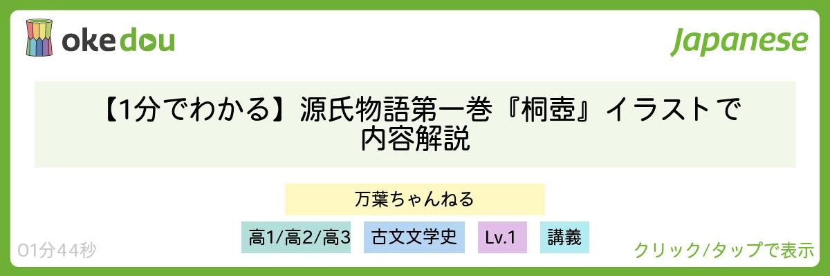 【1分でわかる】源氏物語第一巻『桐壺』イラストで内容解説