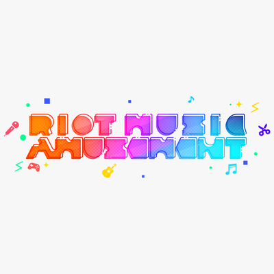 RIOT MUSIC AMUSEMENT(チャンネルタイトルデザイン)
